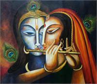 Divine Companions- Krishna And Radha