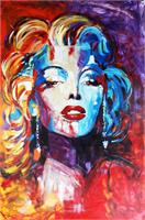 """ART Marilyn Monroe Portrait Acrylic Painting On Canvas Modern Contemporary 40""""x60"""" ORIGINAL Ready To Hang By Kathleen Artist PRO"""