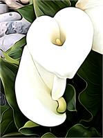 Calla Lily Ala O'Keefe I As Framed Poster