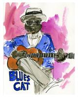 Blues Cat As Poster