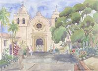 Carmel Mission Basilica As Greeting Card