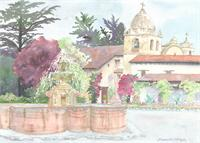Carmel Mission As Poster