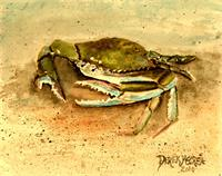 Crab Painting Square Art Print
