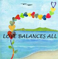 Love Balances All As Framed Poster