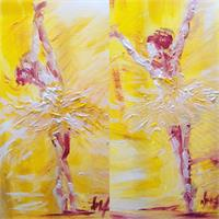 Ballerina In Yellow I & II As Framed Poster
