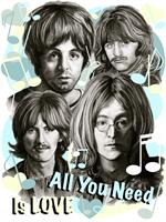 All You Need Is Love As Framed Poster