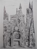 Rouen Cathedral As Framed Poster