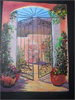 Garden Gate As Greeting Card