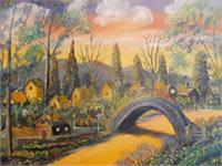 Cottage Village At Sunrise