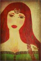 Brighid Celtic Goddess As Greeting Card