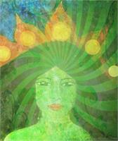 Green Tara Goddess As Framed Poster