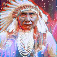 Crazy Horse As Greeting Card