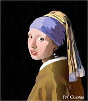 Copia Muchacha De La Perla De Jan Vermeer