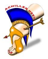 Achilles Heel Shoe As Greeting Card