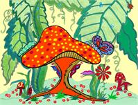 ...Or Snuggle Beneath The Mushroom Caps??....(a Page From My Little Book!)