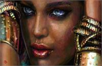 Blue Eyes, Dark Skin