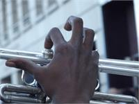 Trumpet Fingers As Greeting Card