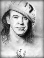 Stevie Ray Vaughn As Framed Poster
