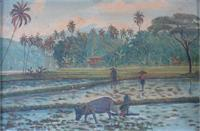 "L0004 ""Farmers And Rice Fields In Java"" By W Bullah"