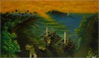"L0011 ""Panorama Of The Beach In Java"" By Im S"