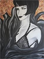 Black And White Art Deco Woman