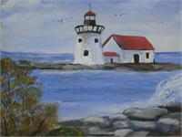 Lighthouse As Greeting Card