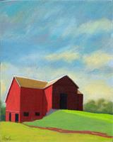 Red Barn - Contemporary Landscape