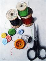 Sewing Memories - Realistic Still Life