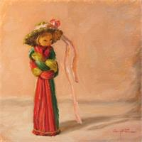 Una Cinta Rosa En El Sombrero As Greeting Card