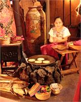 Girl Making Tortillas