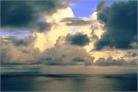 Tropical Shower Over The Caribbean Sea