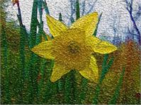 Yellow Flower Stained Glass