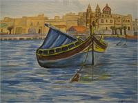 Maltese Luzzu As Framed Poster