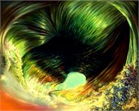 Hurricane Eye Abstract Wave
