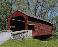 Shearer's Covered Bridge As Framed Poster
