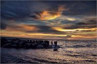 Sunset Over Charleston Harbor