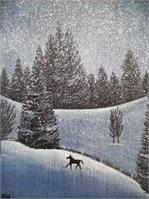 Snowscape With Horse