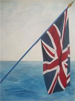 Union Jack At Sea