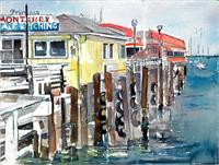 Day At The Wharf As Greeting Card