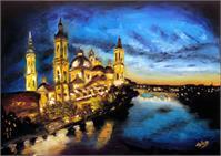 Basilica Pilar At Night