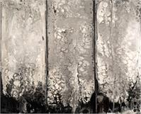 Molten Silver ( Triptych) As Greeting Card