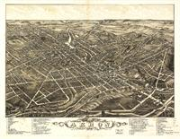 Aerial View Of Akron, Ohio (1882)