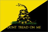Anarcho Gadsden Flag As Framed Poster