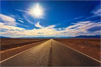 Desert Road On A Sunny Day As Framed Poster