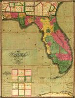 Map Of Florida (1829) As Framed Poster