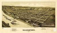 Aerial View Of Glassport, Pennsylvania (1902)
