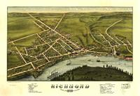 Aerial View Of Richmond, Maine (1878) As TShirt