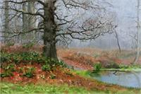 Autumn Scene With Oak