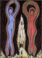 Dancing Figures As Framed Poster