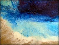 Large Textural Contemporary Abstract Beach Painting REVERIE
